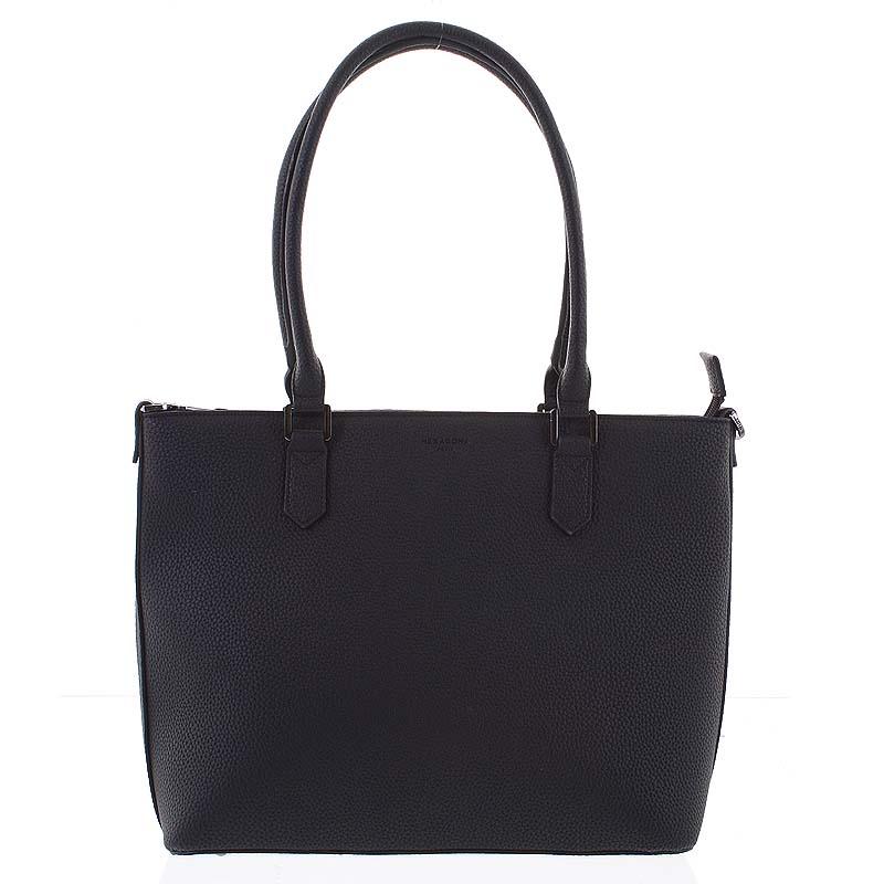 Veľká ľahká dámska kabelka cez rameno čierna - Hexagona Zenas čierna