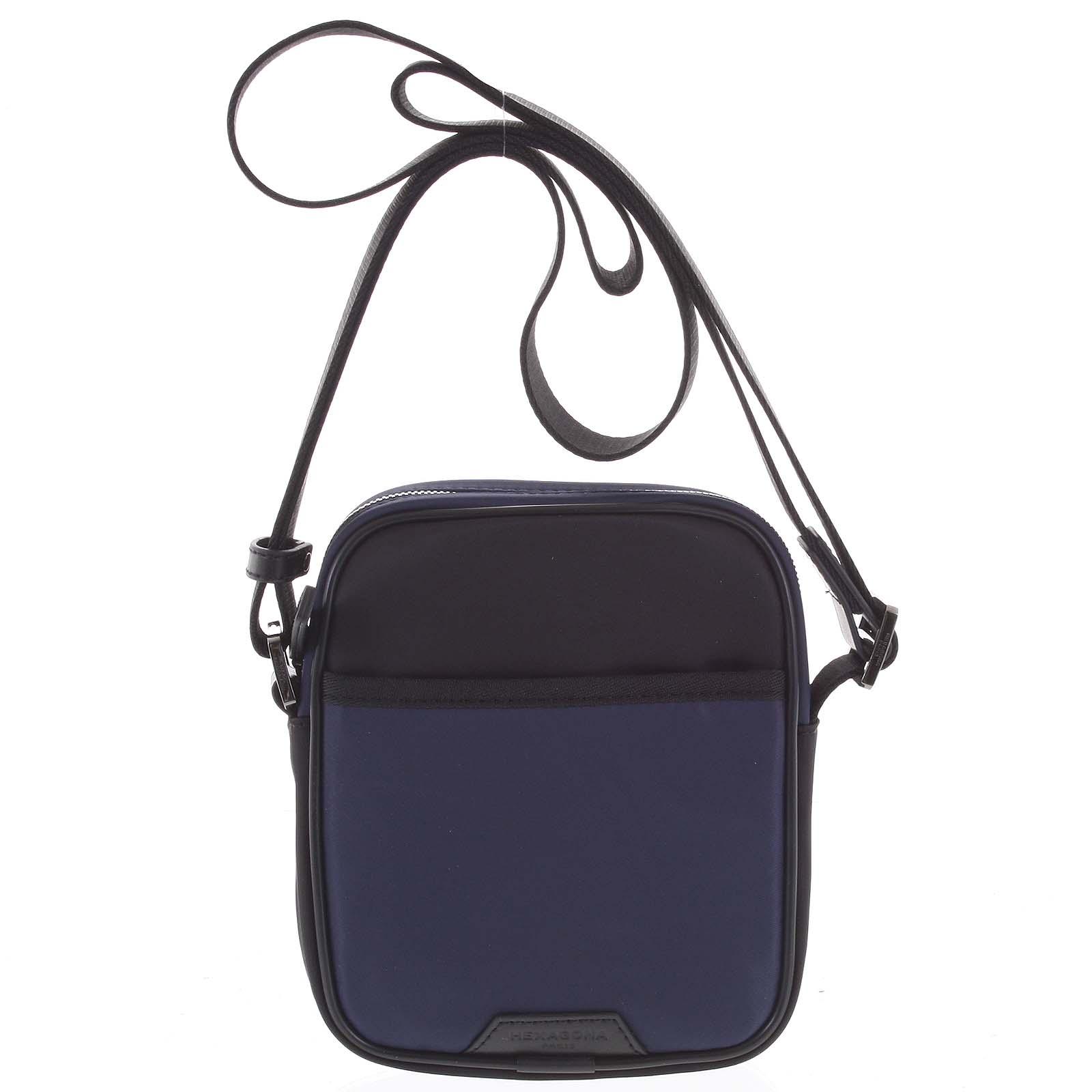 Malá pánska crossbody taška modro čierna - Hexagona Arga modrá