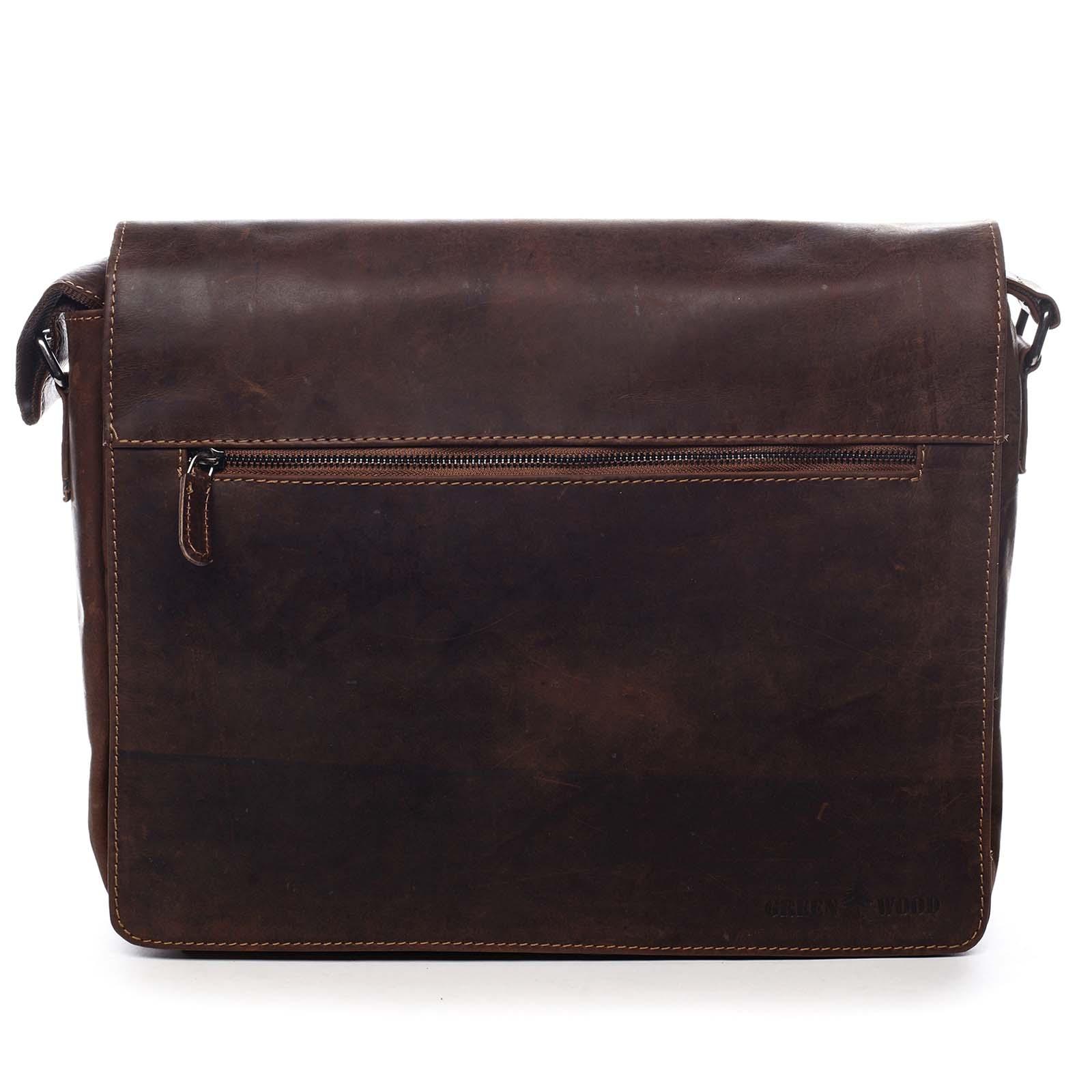 Pánska kožená taška hnedá - Greenwood Manifico hnedá