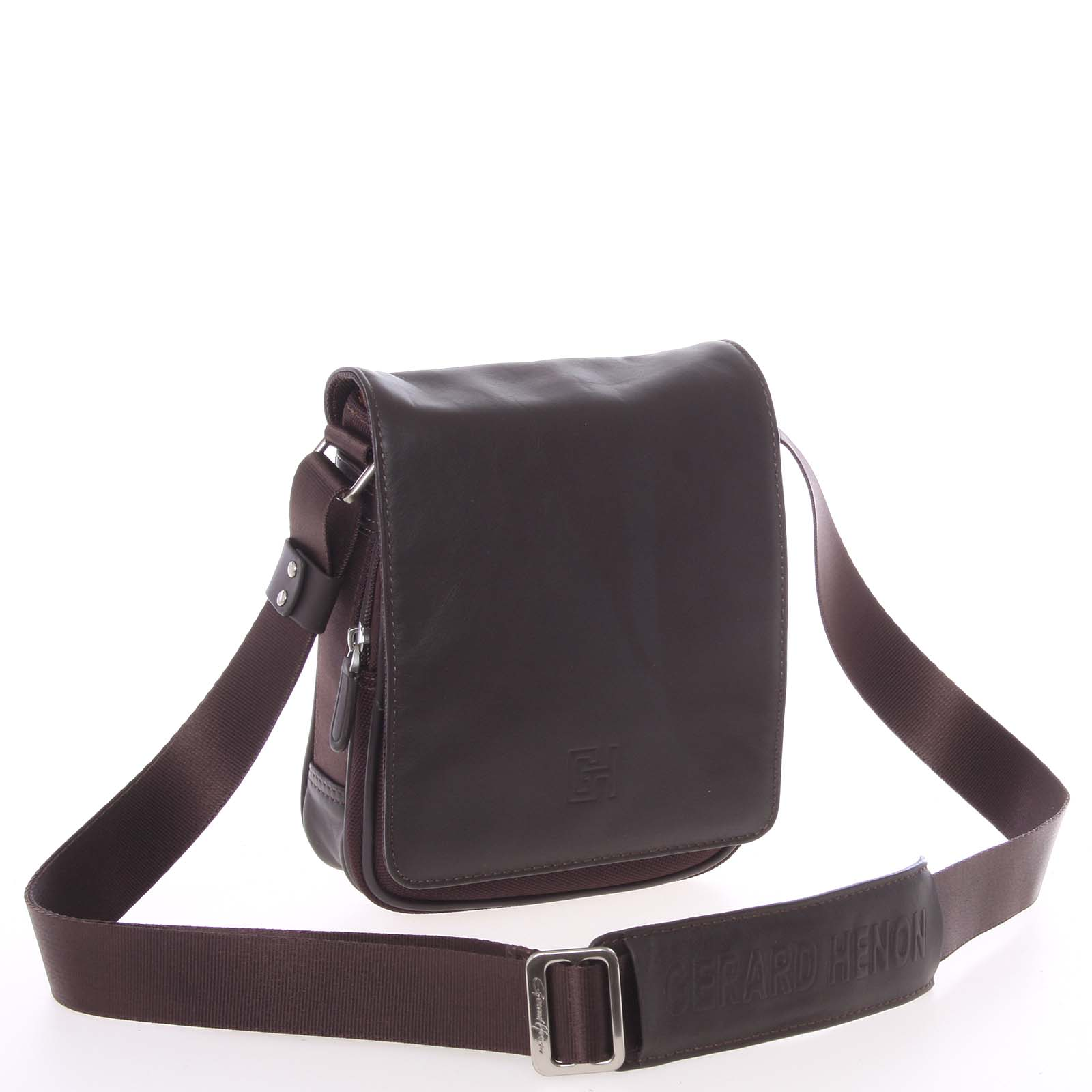 Pánska taška cez rameno na doklady hnedá - Gerard HENON Lennard hnedá