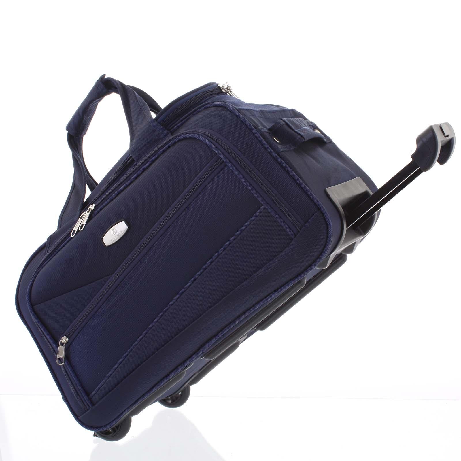 Tmavomodrá cestovná taška na kolieskach - Lumi Sakk M modrá