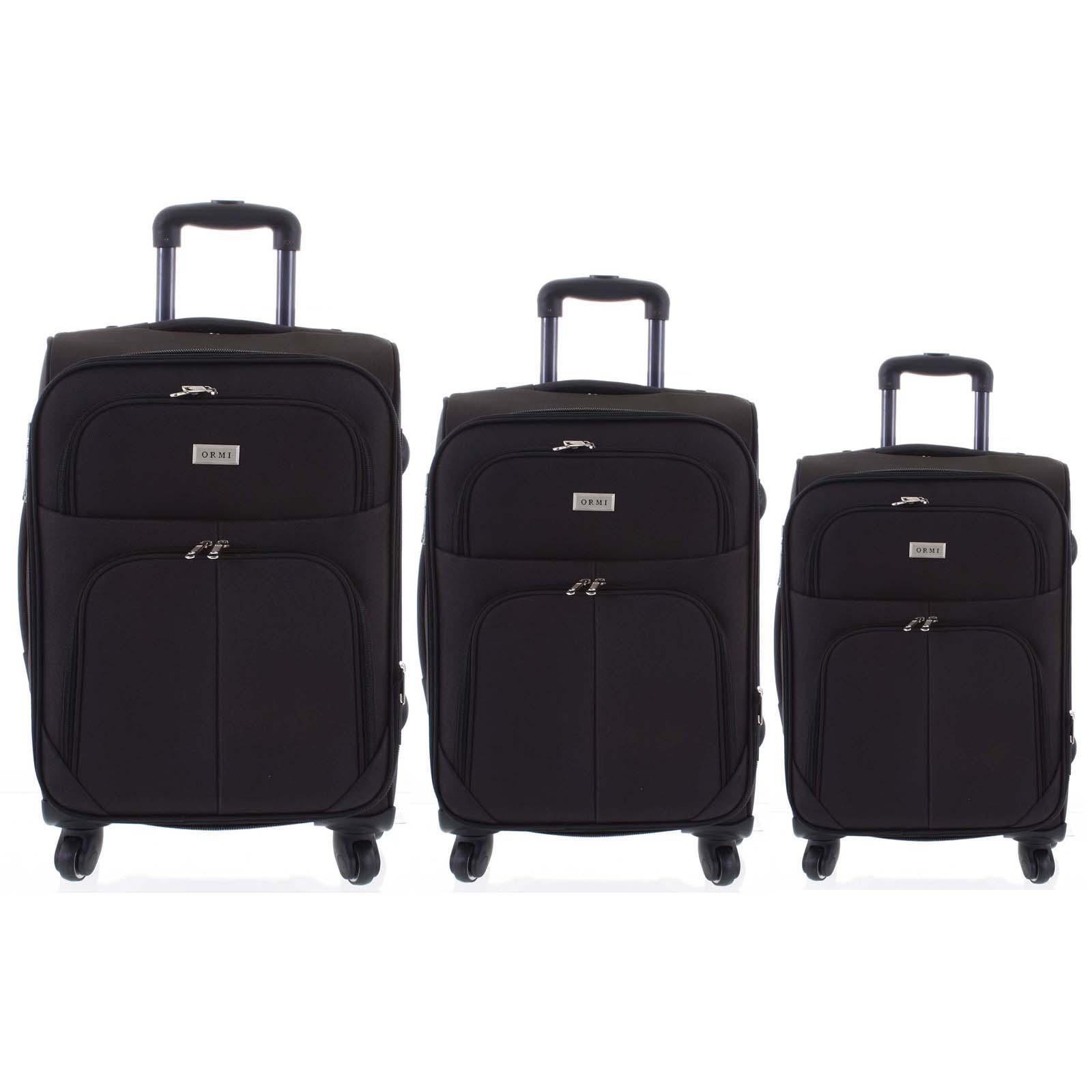 Cestovný kufor čierny sada - Ormi Tessa S, M, L čierna