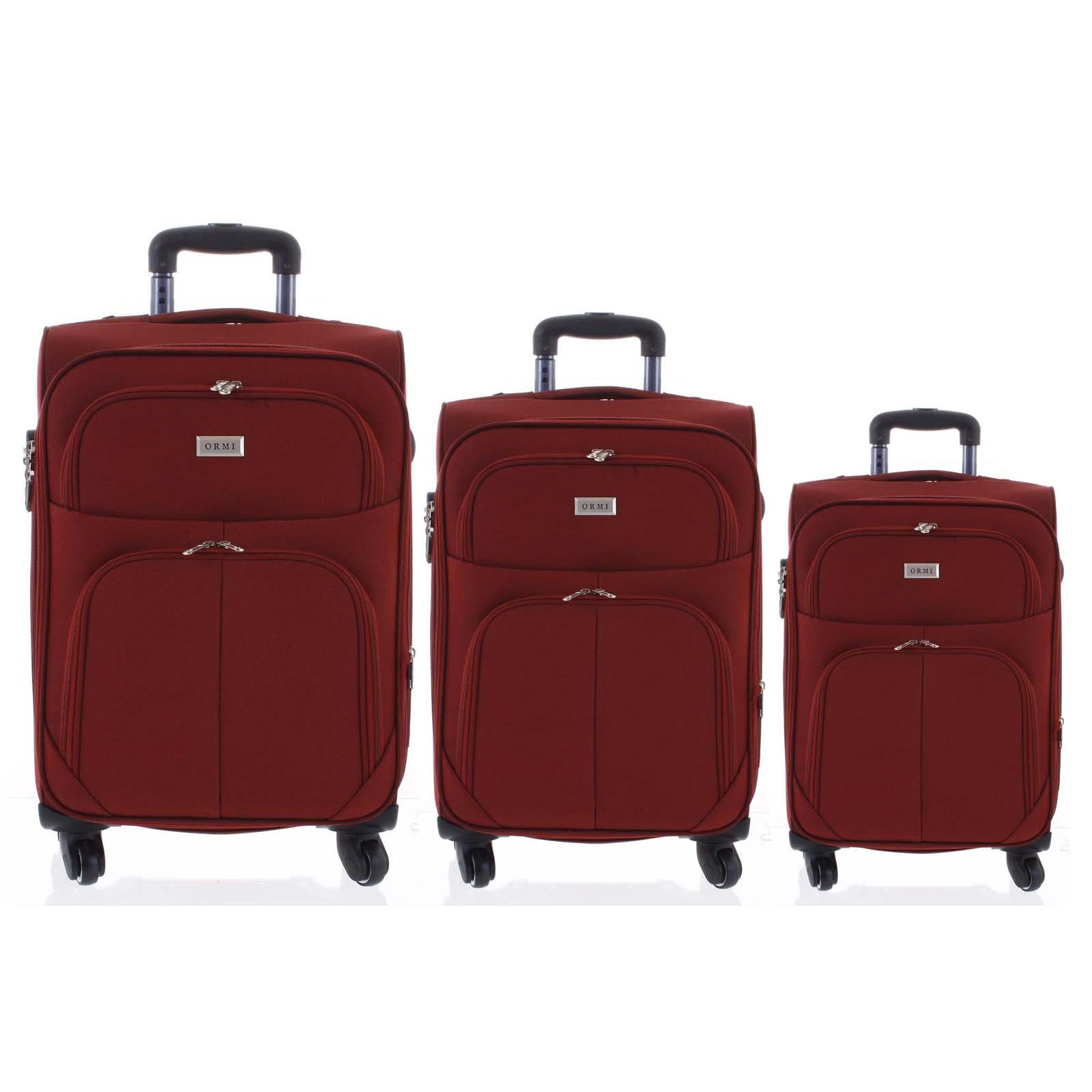 Cestovný kufor tmavočervený sada - Ormi Tessa S, M, L červená