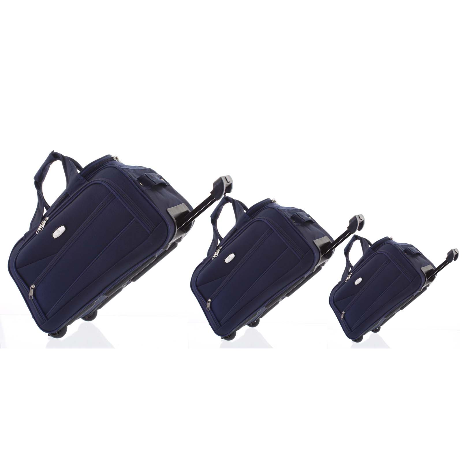 Tmavomodrá cestovná taška na kolieskach sada - Lumi Sakk L, M, S modrá