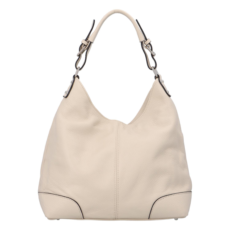 Dámska kožená kabelka béžová - ItalY Inpelle béžová