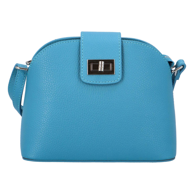 Dámska kožená crossbody kabelka modrá - ItalY Brokylon modrá