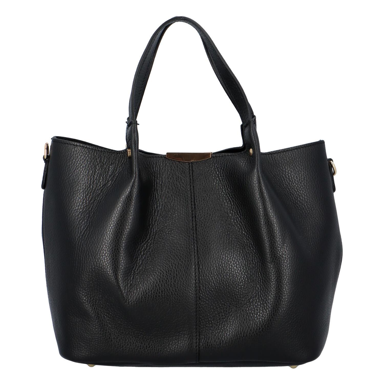 Dámska kožená kabelka čierna - ItalY Werawont čierna