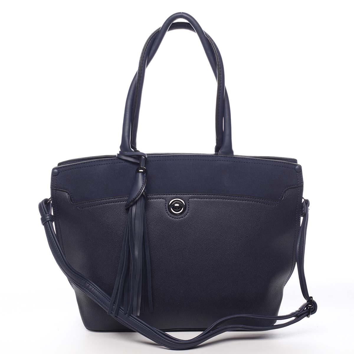 Dámska kabelka cez rameno tmavo modrá - Maria C Loray modrá