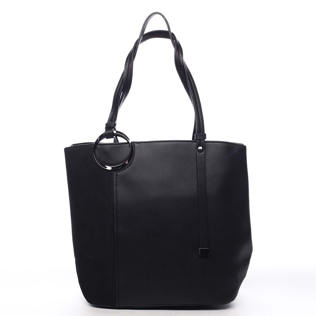 Elegantná kabelka cez rameno čierna - Maria C Ellize čierna