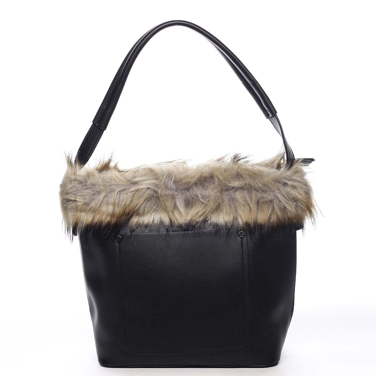 Dámska kabelka cez plece čierna - Maria C Triches čierna