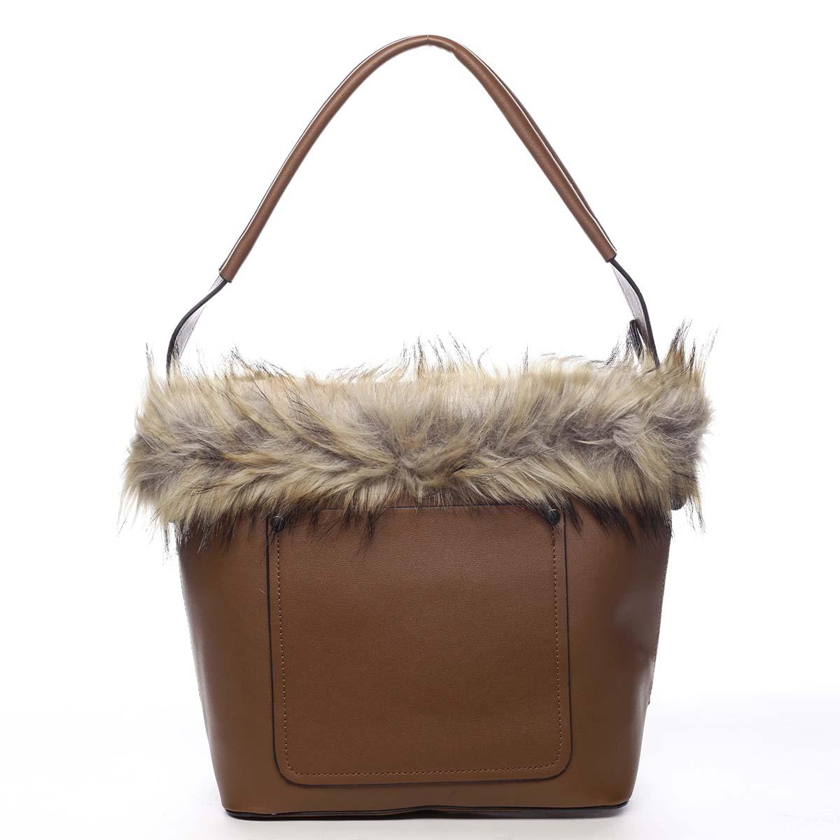 Dámska kabelka cez plece hnedá - Maria C Triches hnedá