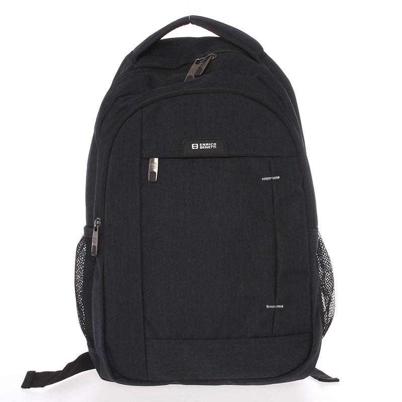 Moderný čierny batoh do školy - Enrico Benetti Acheron čierna