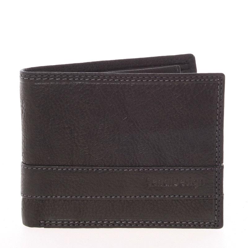 Ľahká pánska kožená peňaženka čierna - SendiDesing Ctix čierna