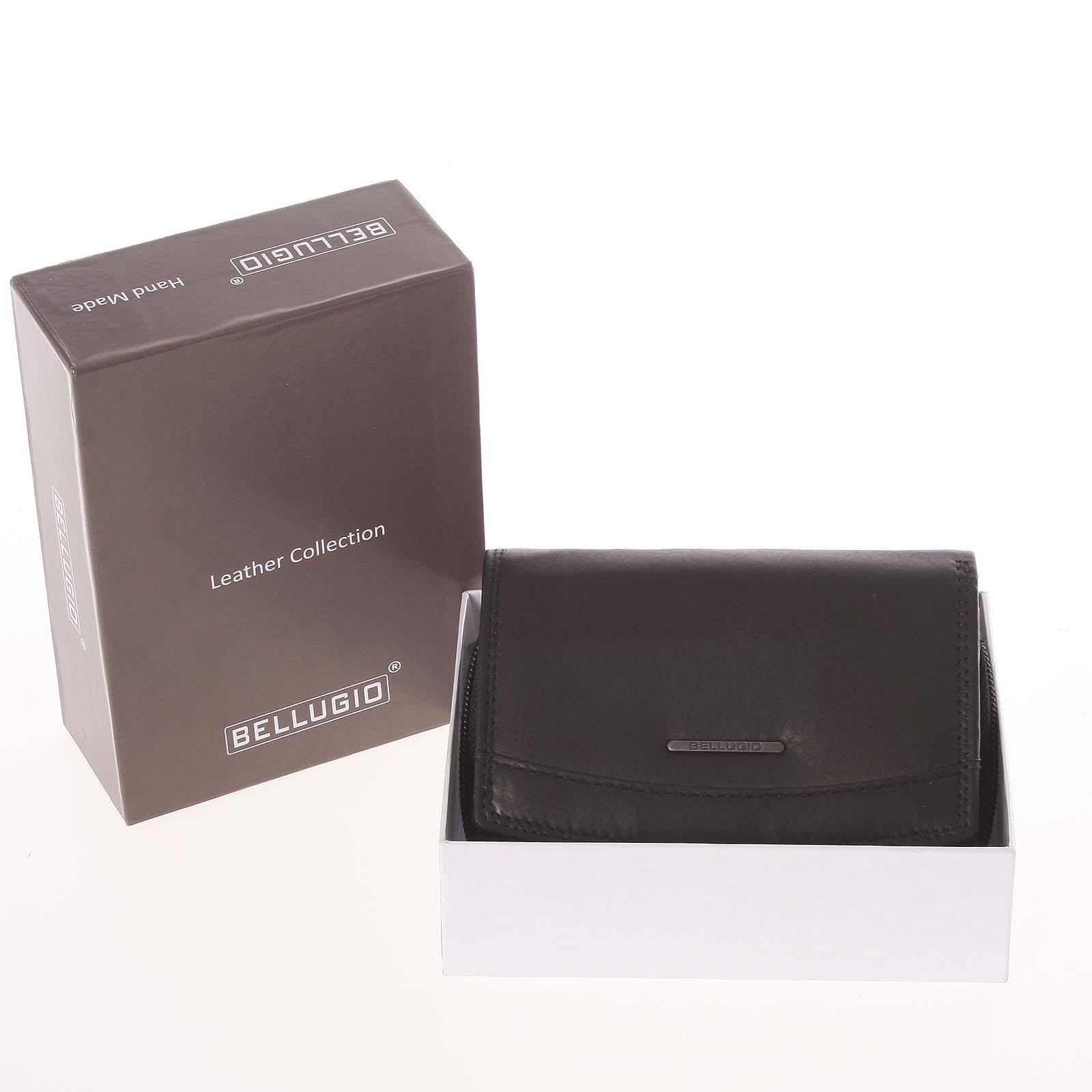 Štýlová kožená dámska peňaženka čierna - Bellugio Smith čierna