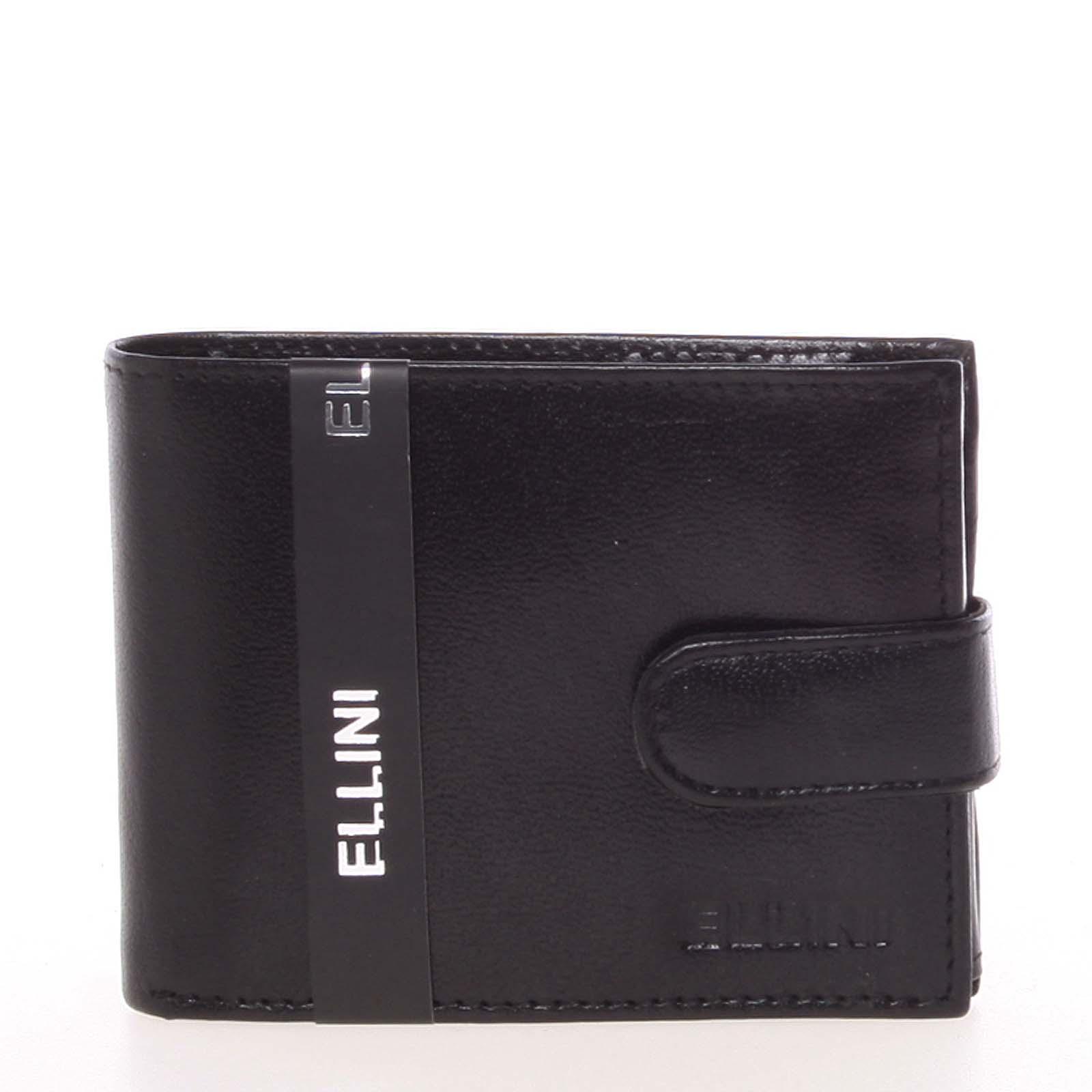 Elegantná pánska kožená peňaženka čierna - Ellini Panther čierna