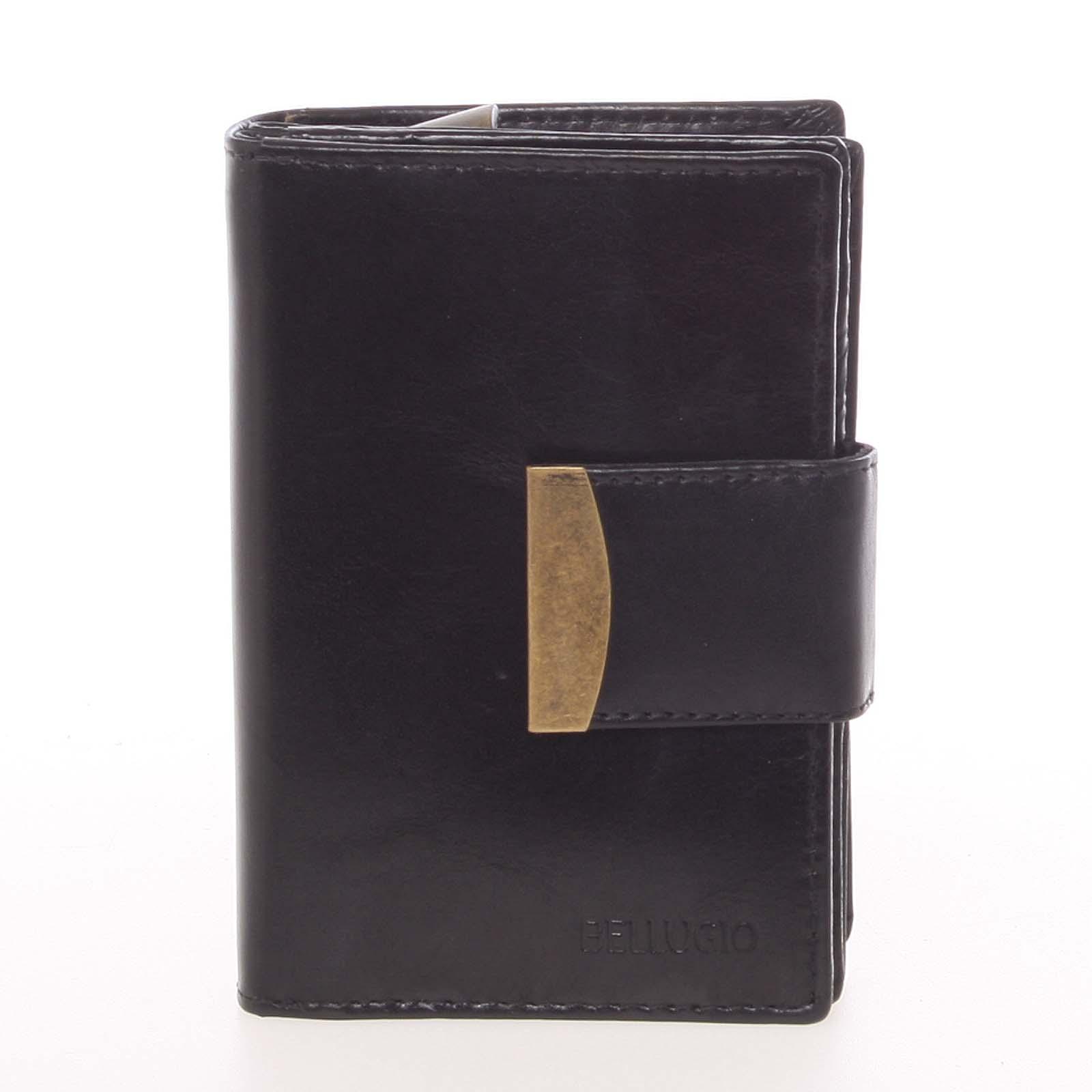 Nevšedná čierna kožená peňaženka - Bellugio Onesimo čierna