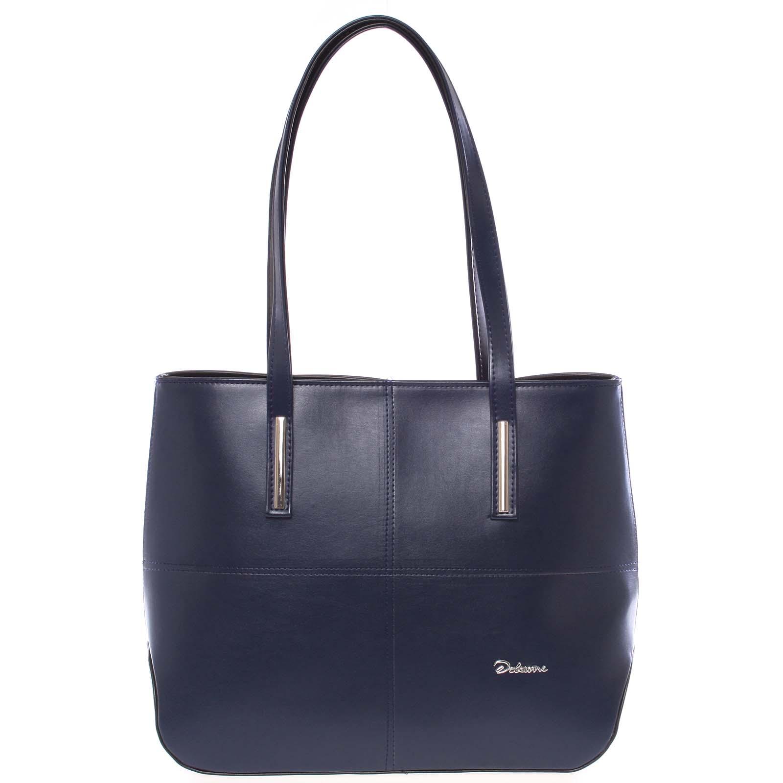 Dámska luxusná kabelka cez rameno tmavomodrá - Delami Leonela modrá