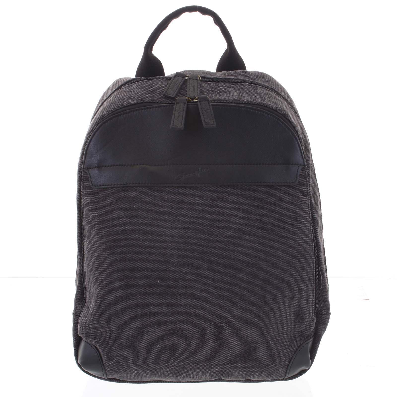 Štýlový pánsky batoh čierny - Gerard Henon Roch čierna