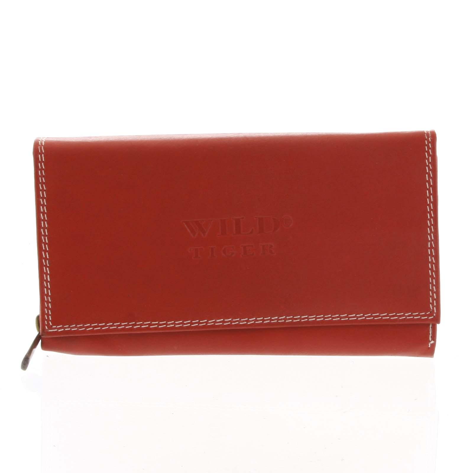 Dámska kožená peňaženka červená - WILD Haemon New červená