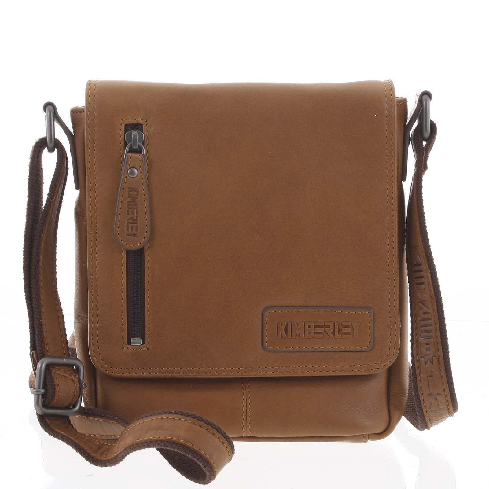 Luxusná pánska kožená taška hnedá - Kimberley Torr hnedá