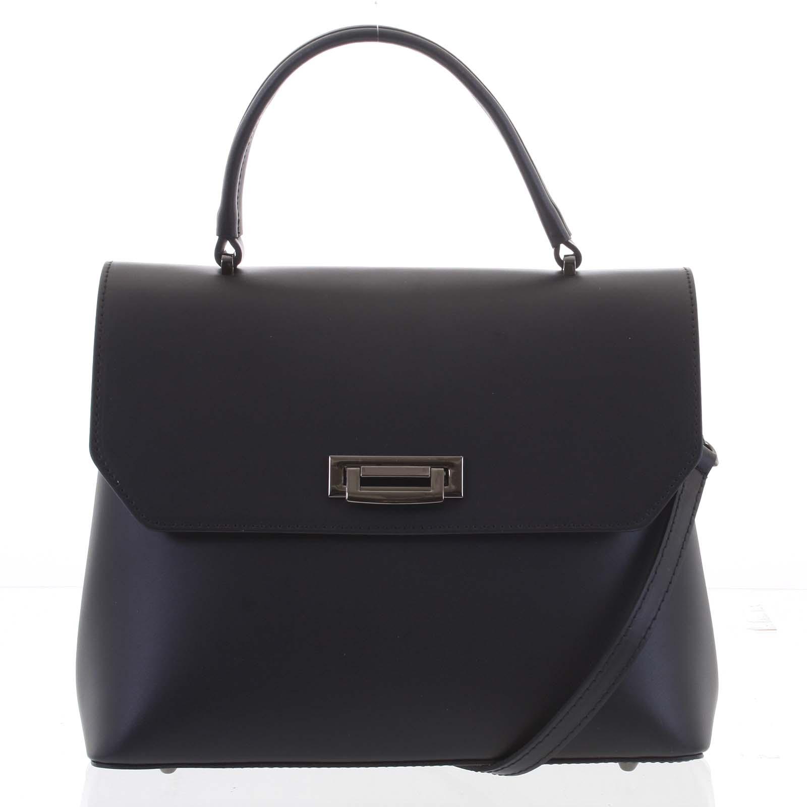 Originálna hladká čierna dámska kabelka do ruky - ItalY Neolila čierna