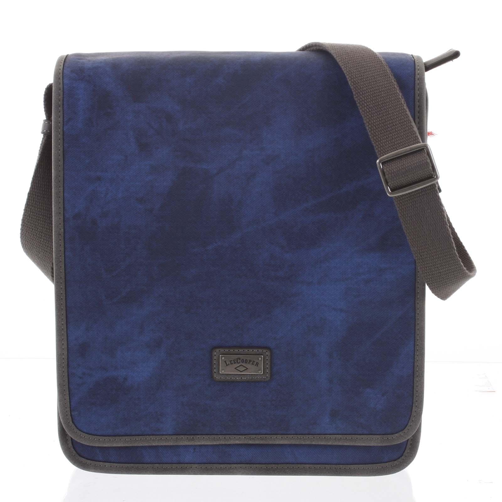 Modrá moderná pánska taška cez rameno - Lee Cooper Adrastos modrá
