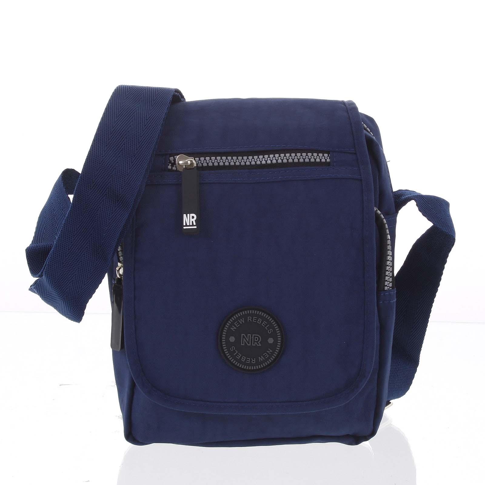 Malá športová taška na doklady tmavomodrá - New Rebels Jacob modrá