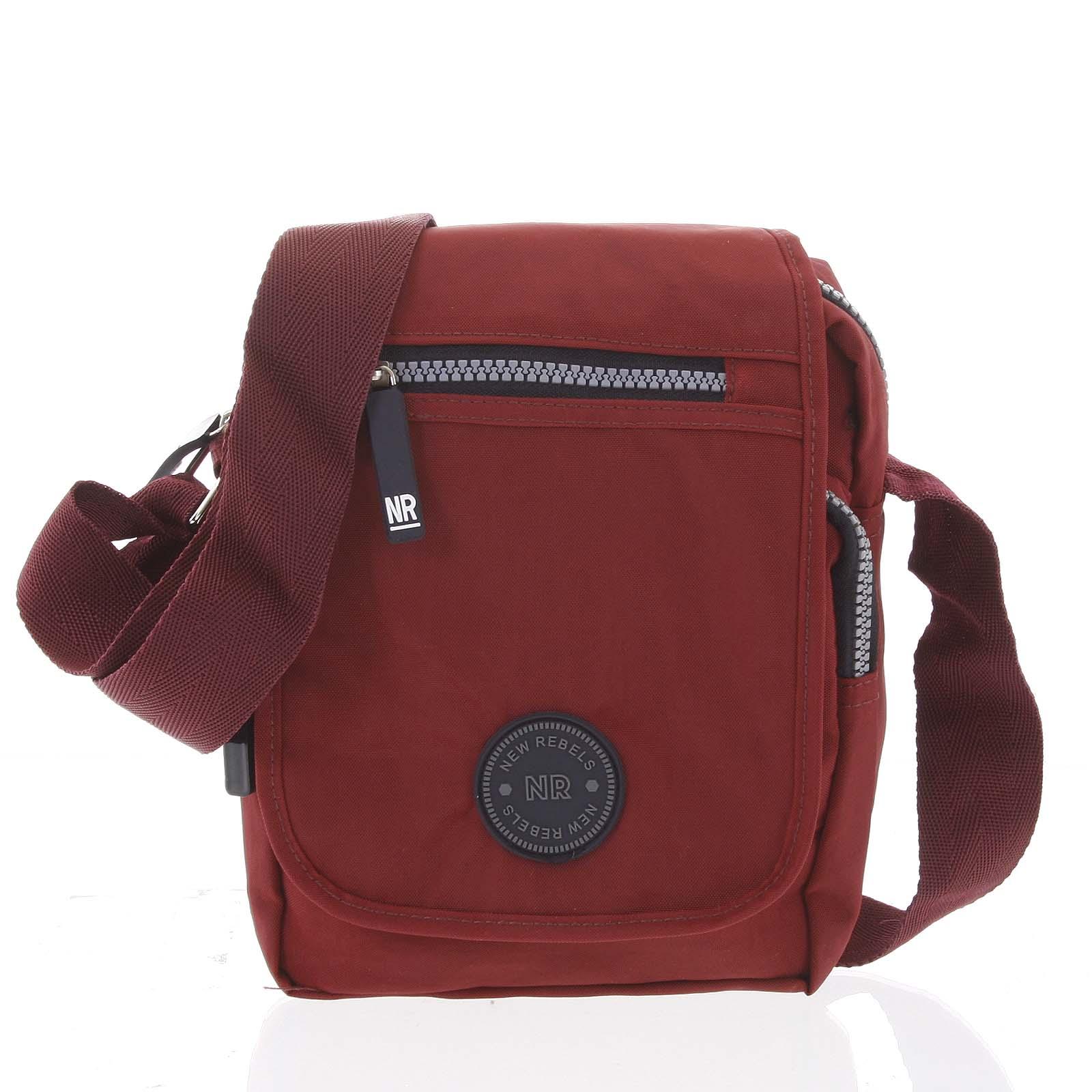 Malá športová taška na doklady červená - New Rebels Jacob červená