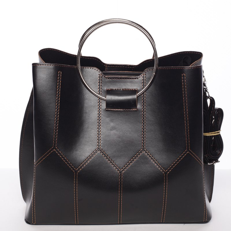 Luxusná dámska kabelka čierno hnedá - Delami Gracelynn čierna