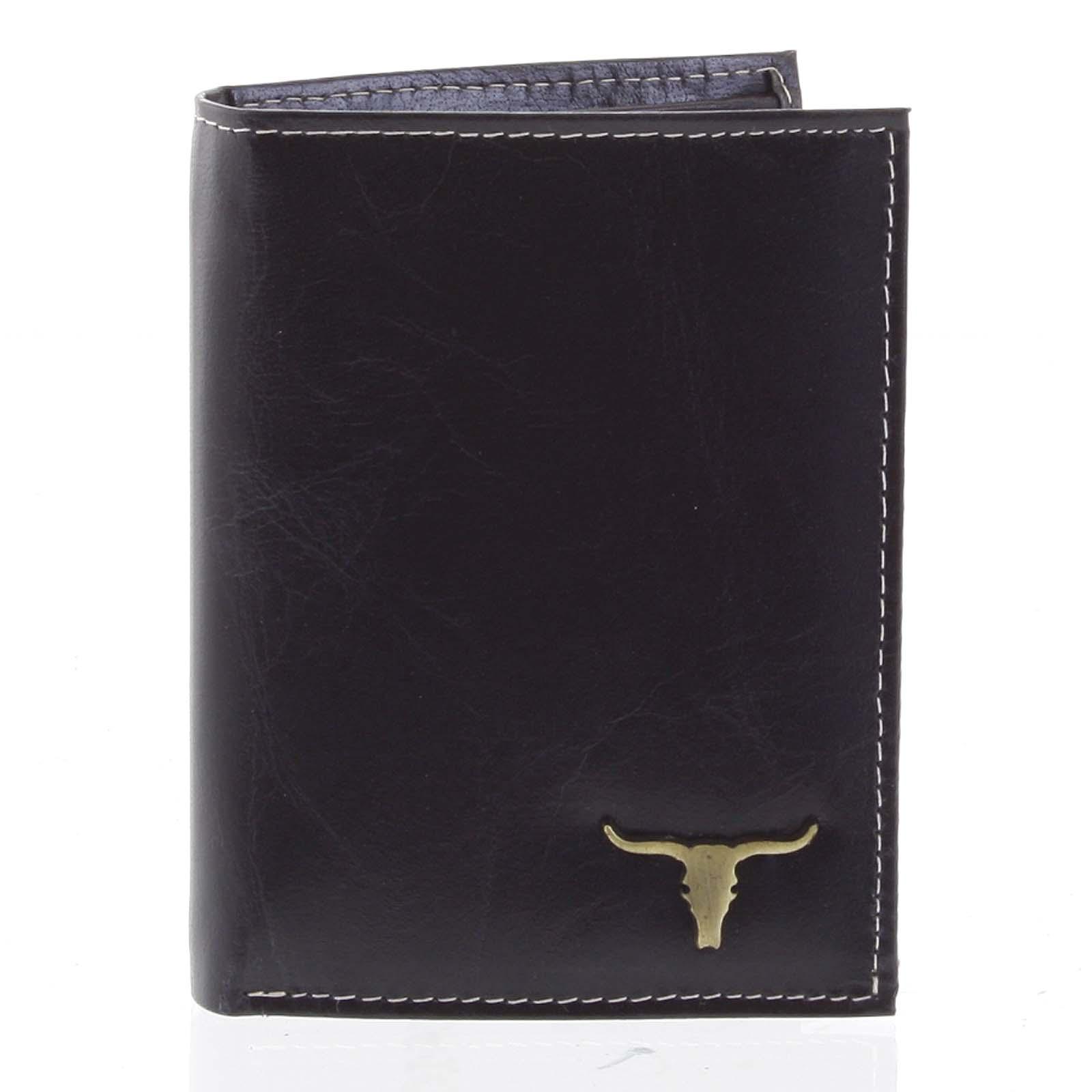Elegantná pánska kožená peňaženka čierna - BUFFALO Amasai čierna
