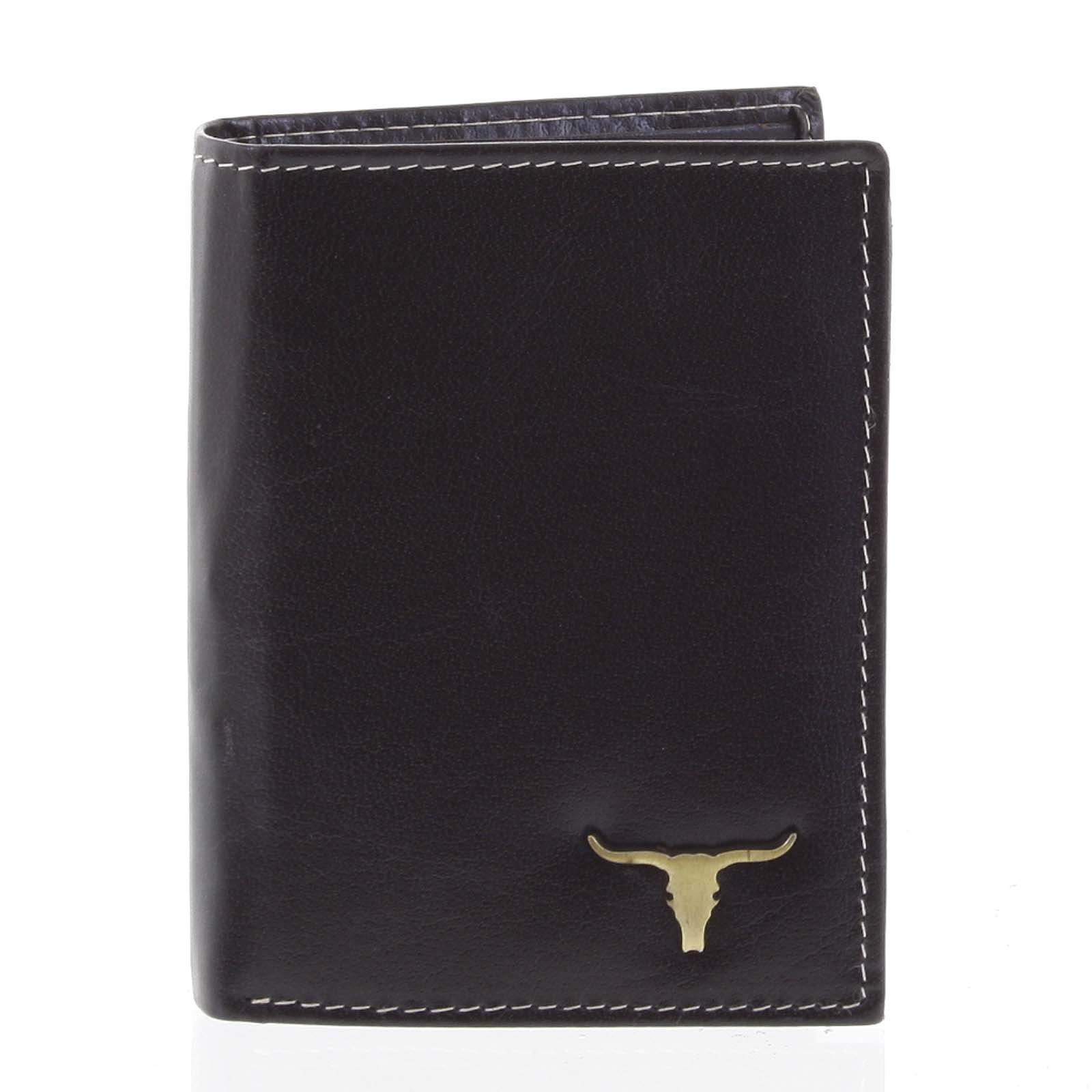 Kvalitná pánska kožená čierna peňaženka - BUFFALO Paden čierna