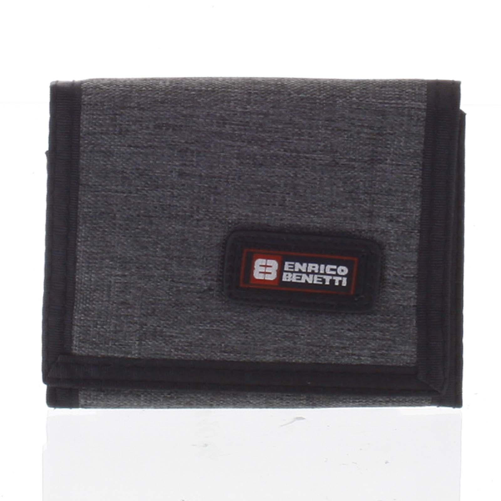 Peňaženka látková tmavosivá - Enrico Benetti 4600 šedá