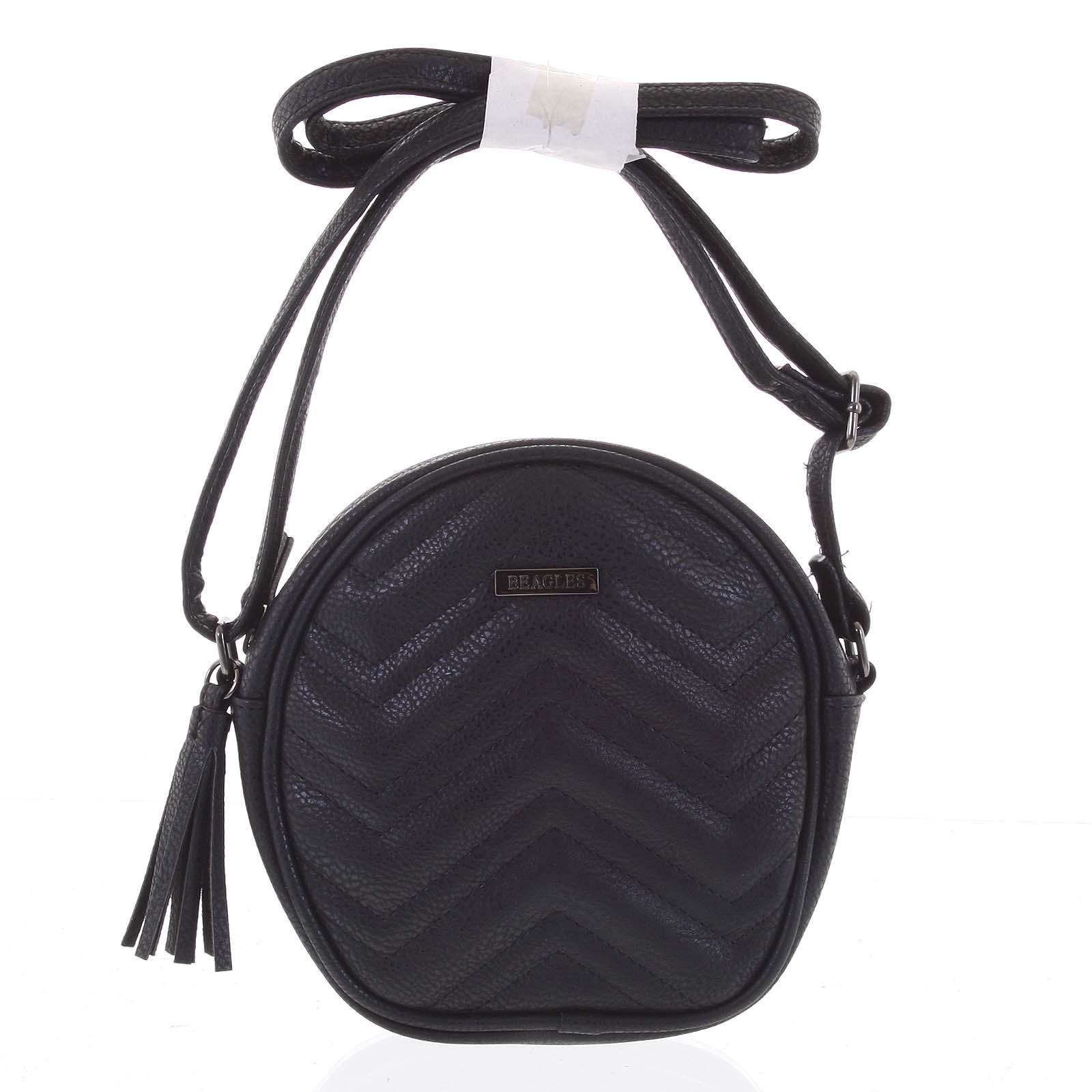 Malá trendy crossbody kabelka čierna - Beagles Mana čierna