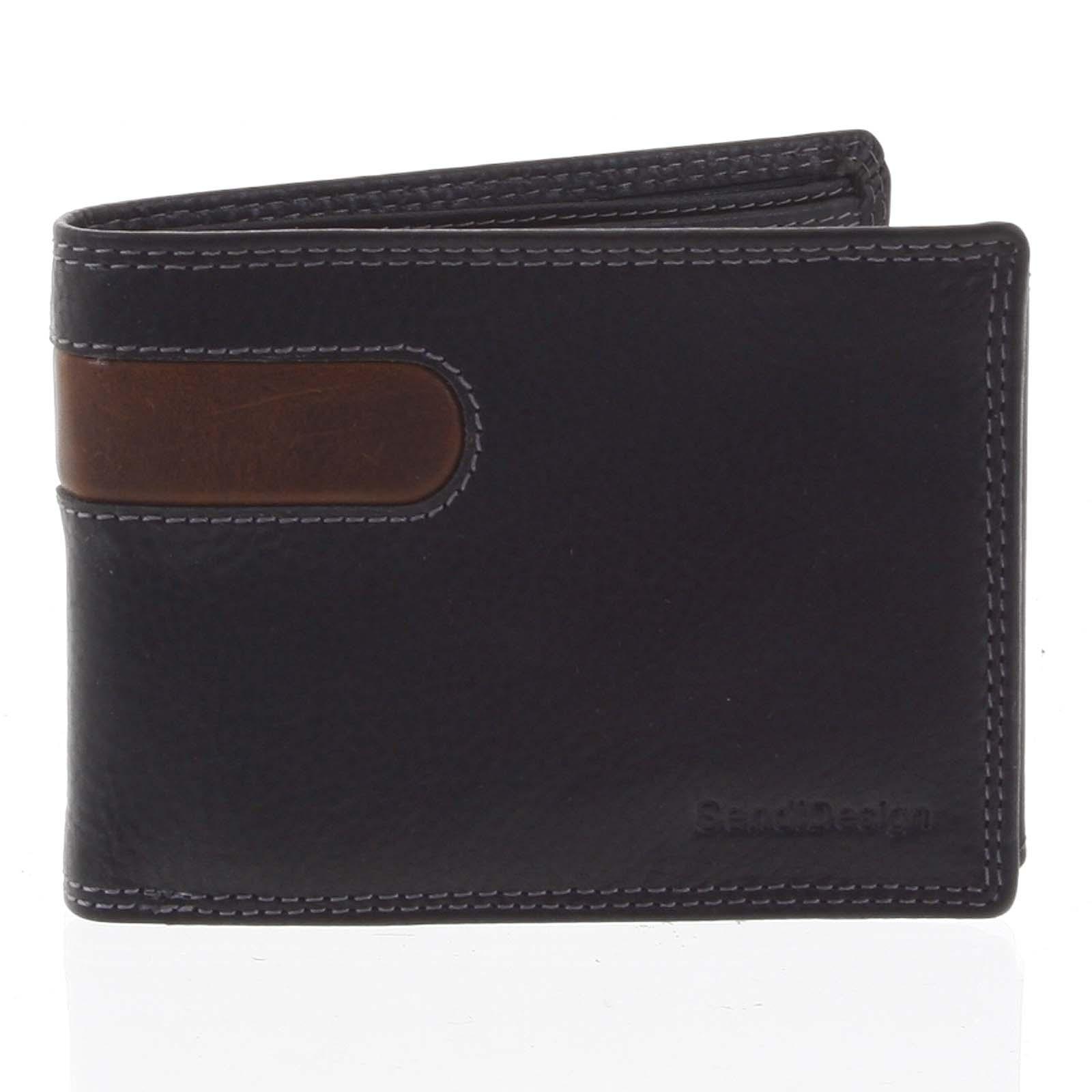 Business pánska kožená peňaženka čierna - SendiDesign Joel čierna