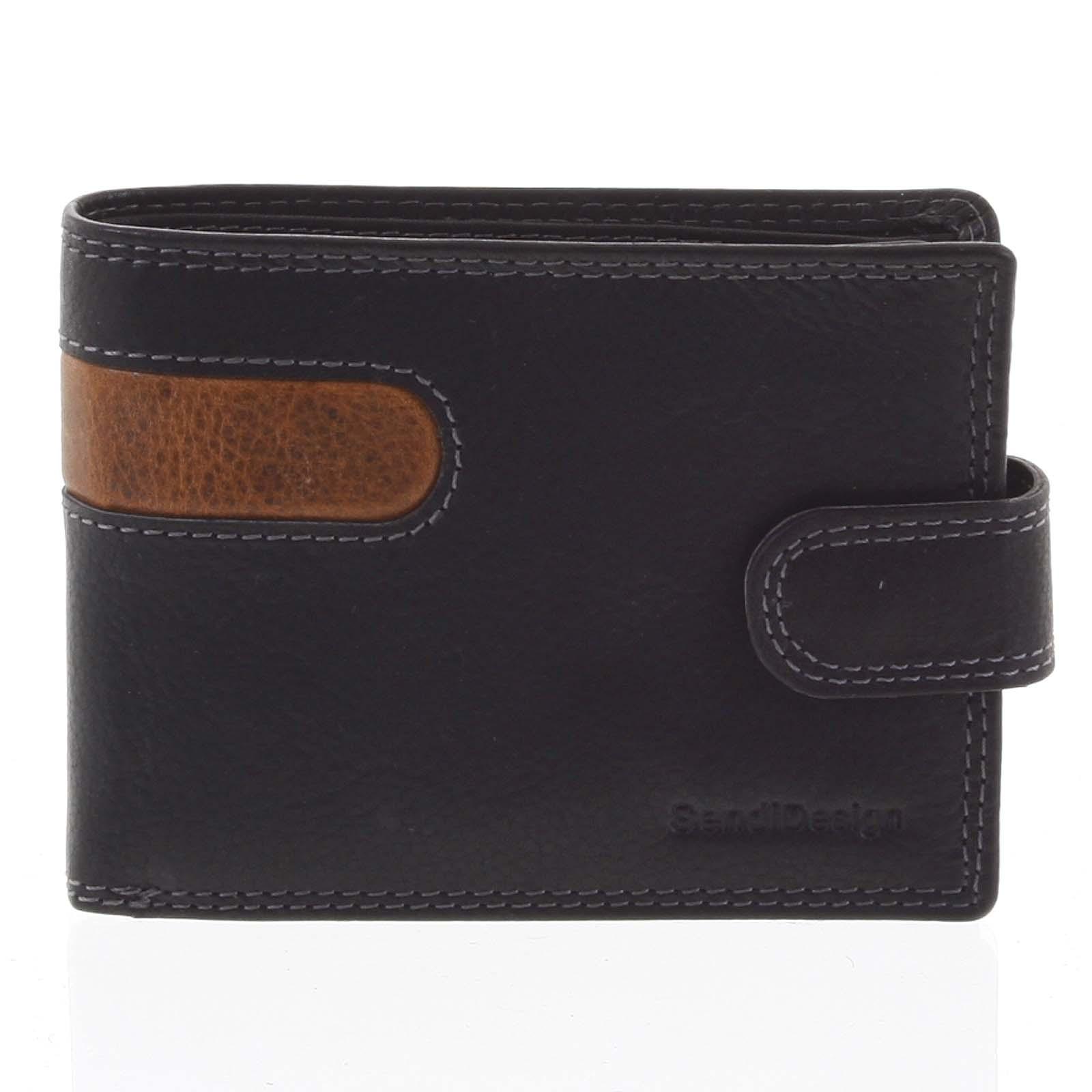 Obľúbená pánska kožená peňaženka čierna - SendiDesign Igeal čierna
