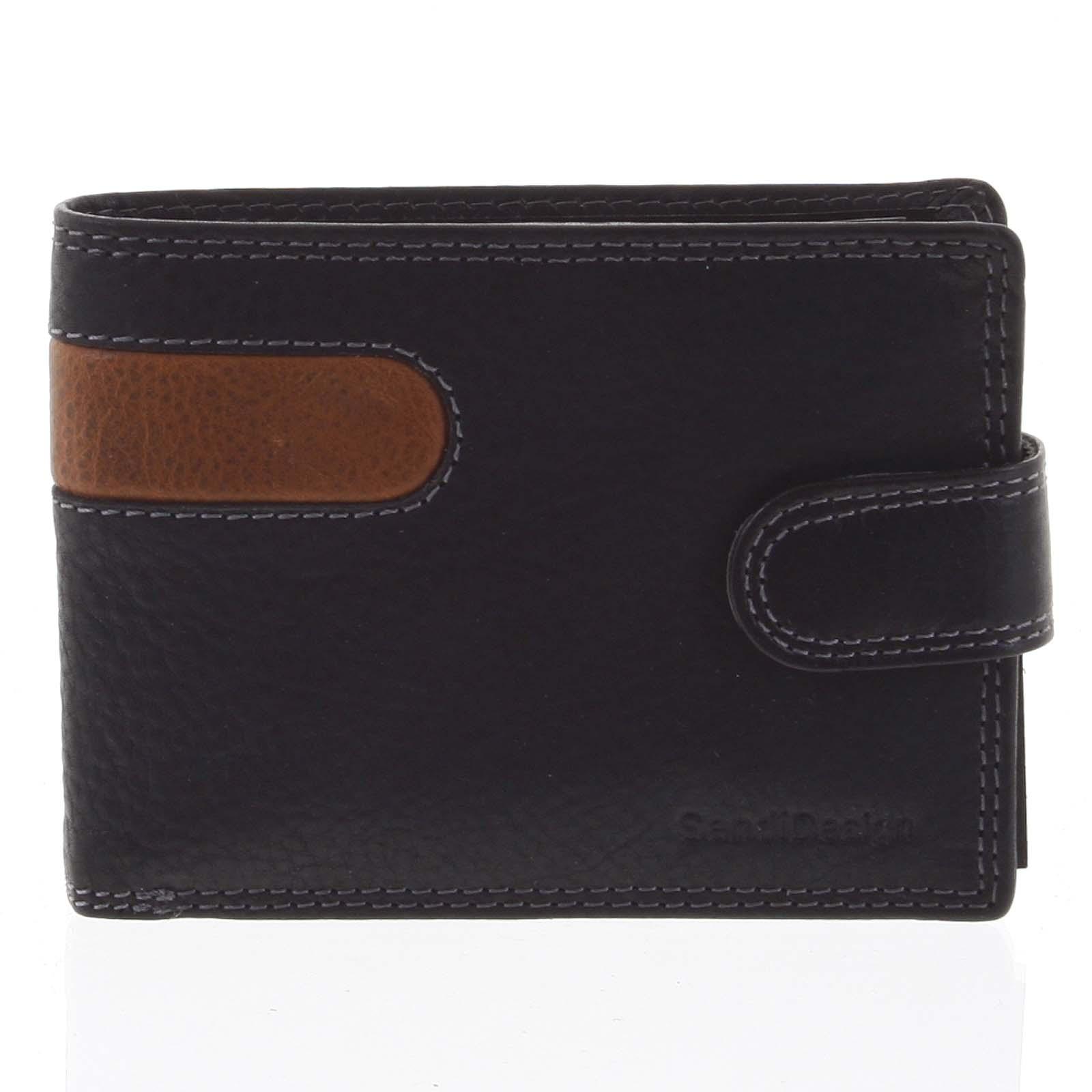 Najpredávanejšia pánska kožená peňaženka čierna - SendiDesign Tarsus čierna