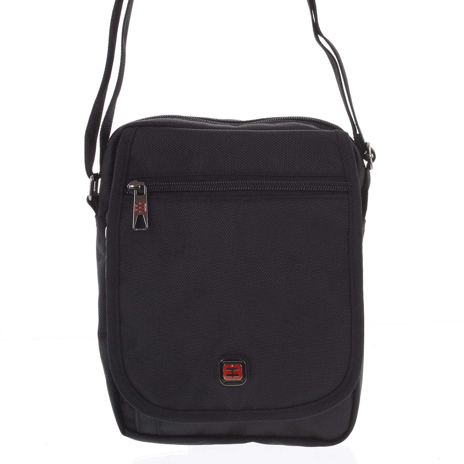 Pánska športová taška na doklady čierna - Enrico Benetti Nico čierna