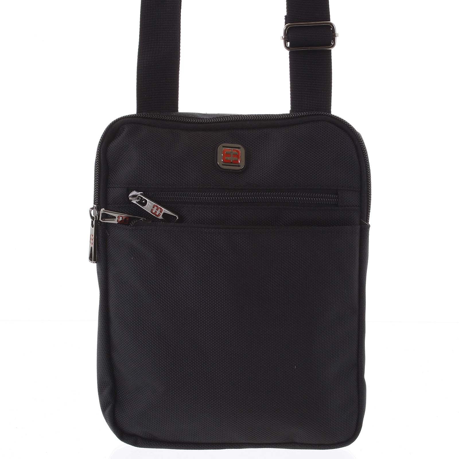 Pánska crossbody taška na doklady čierna - Enrico Benetti Najil čierna
