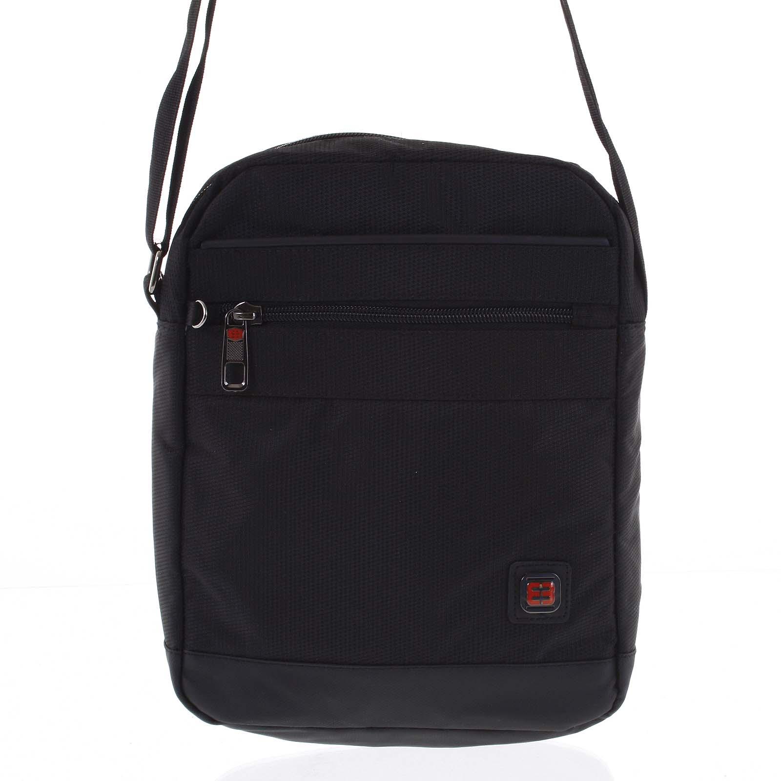 Športová taška na doklady čierna - Enrico Benetti Romal čierna