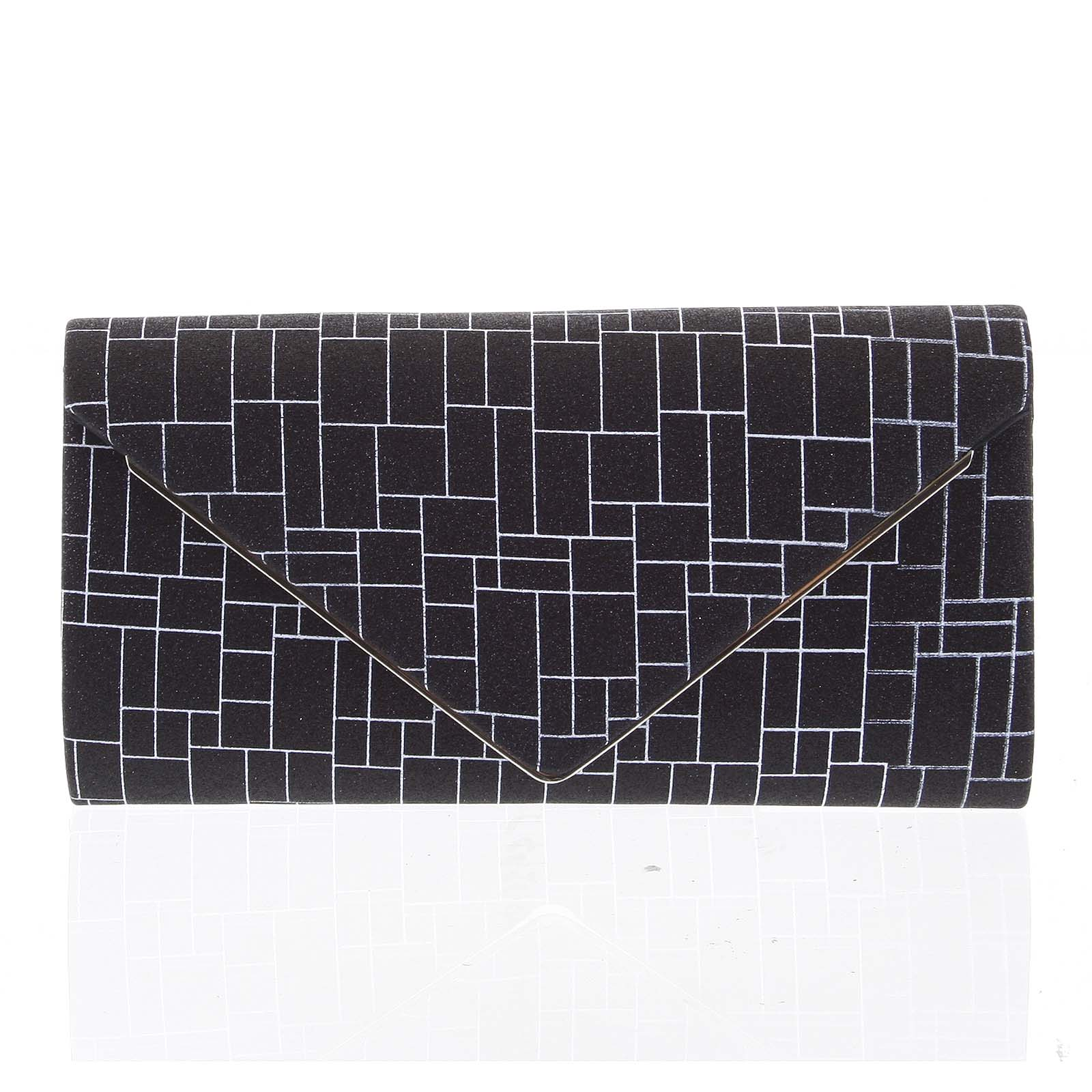 Elegantná dámska listová kabelka čierna - Michelle Moon HightWay čierna