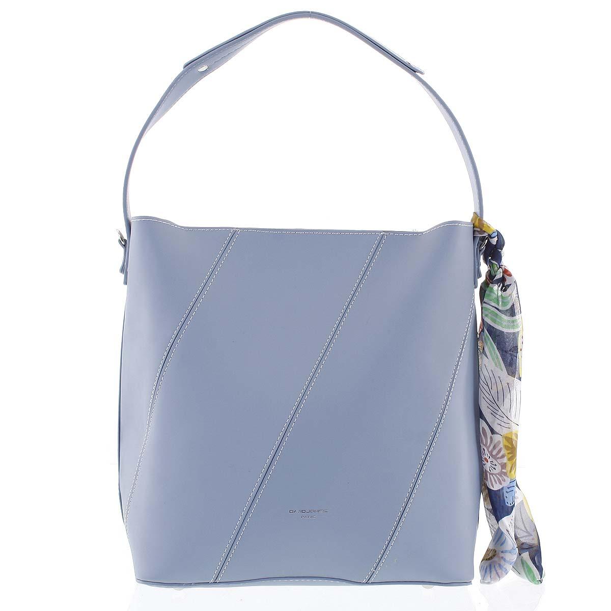 Elegantná dámska kabelka cez rameno svetlo modrá - David Jones Abena modrá