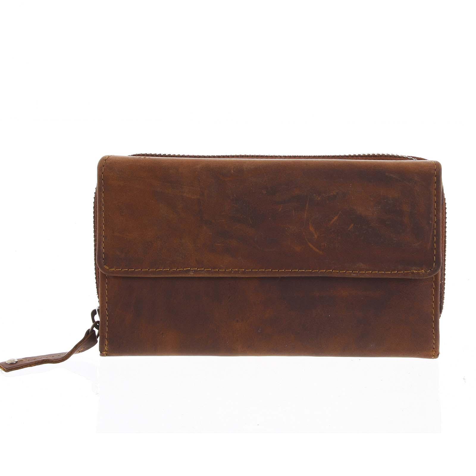 Dámska kožená peňaženka hnedá - Tomas Menmaiya hnedá