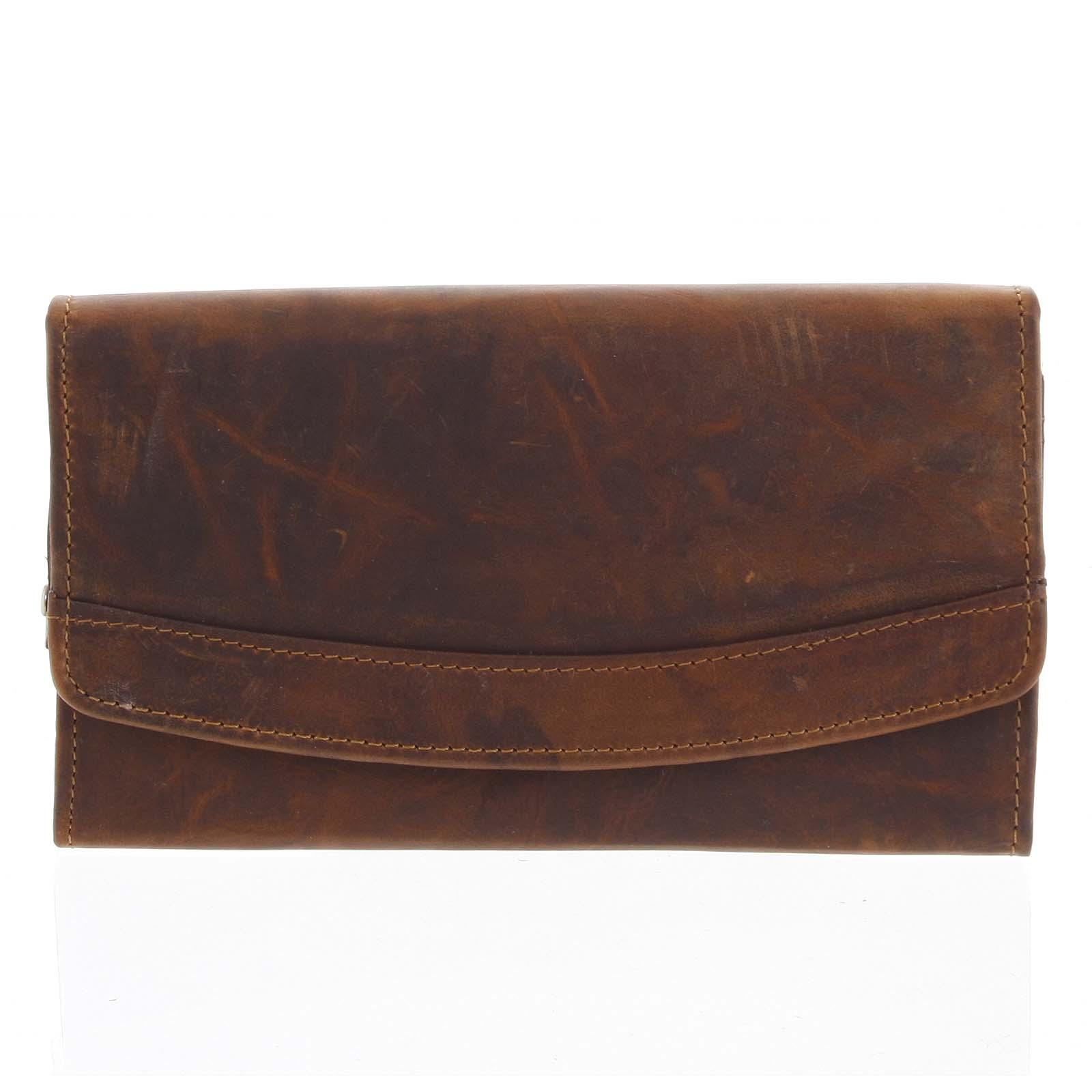 Dámska kožená peňaženka hnedá - Tomas Slat hnedá