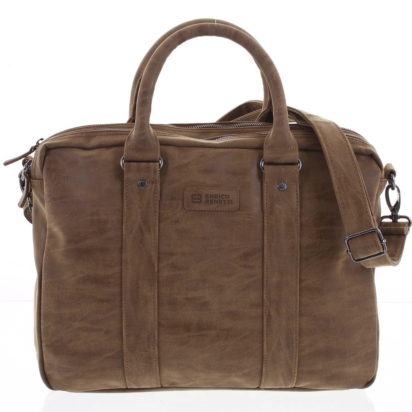 Pánska taška taška cez rameno hnedá - Enrico Benetti 4539 New hnedá