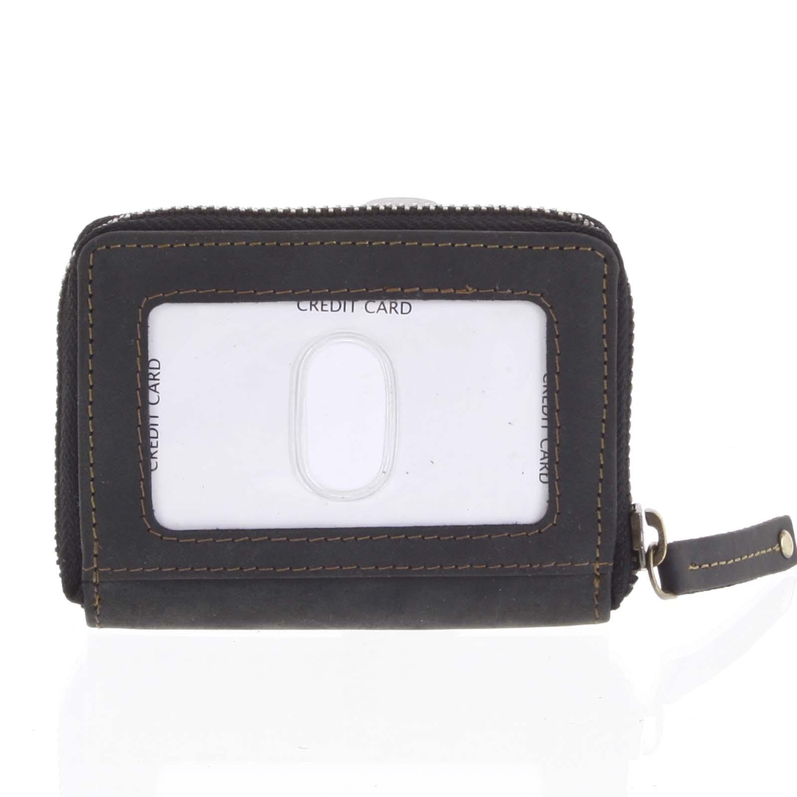 Kožená peňaženka čierna brúsená - Tomas Omcane čierna