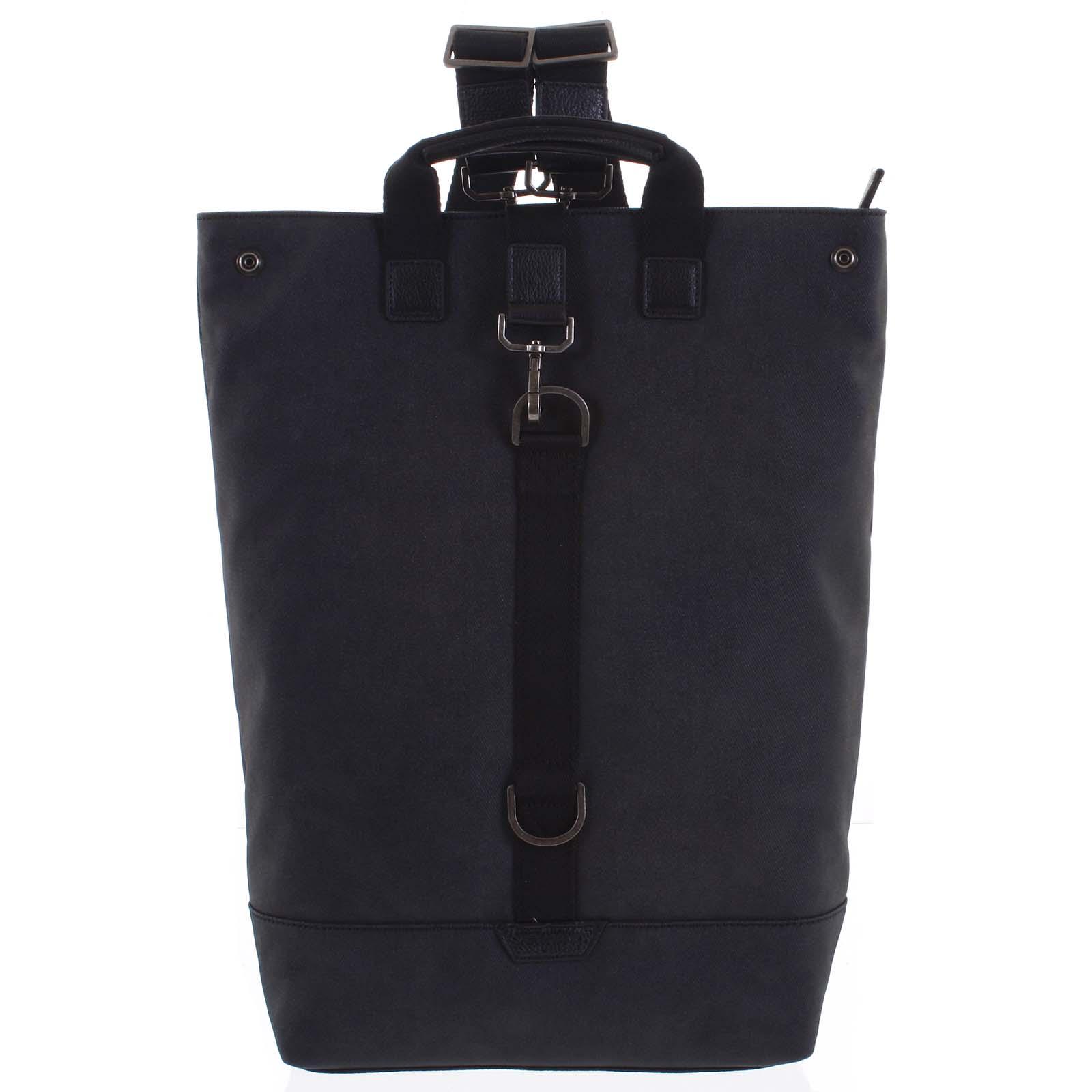 Pánsky veľký batoh čierny - Hexagona Adrien čierna