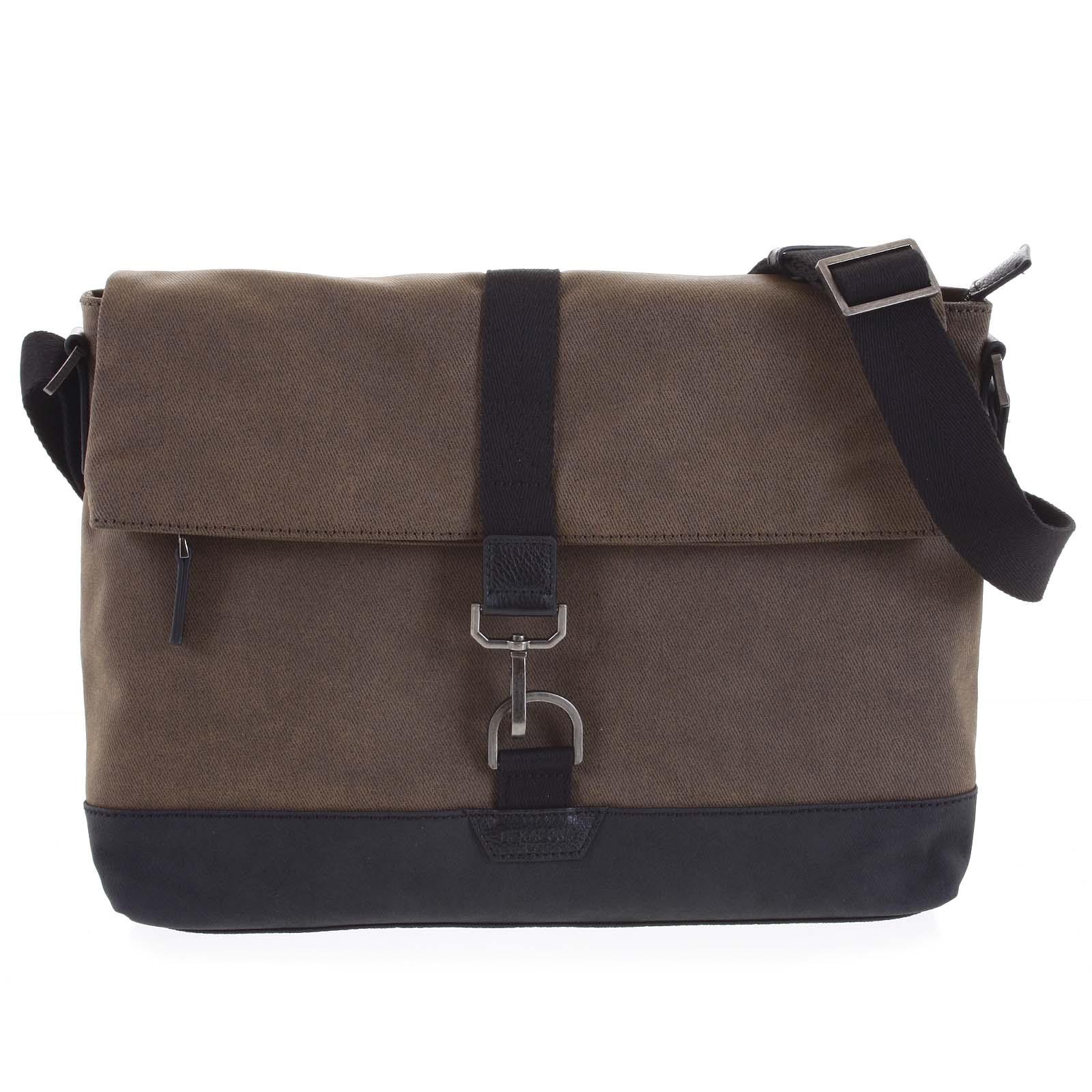 Pánska taška na notebook hnedá - Hexagona Cladrien hnedá