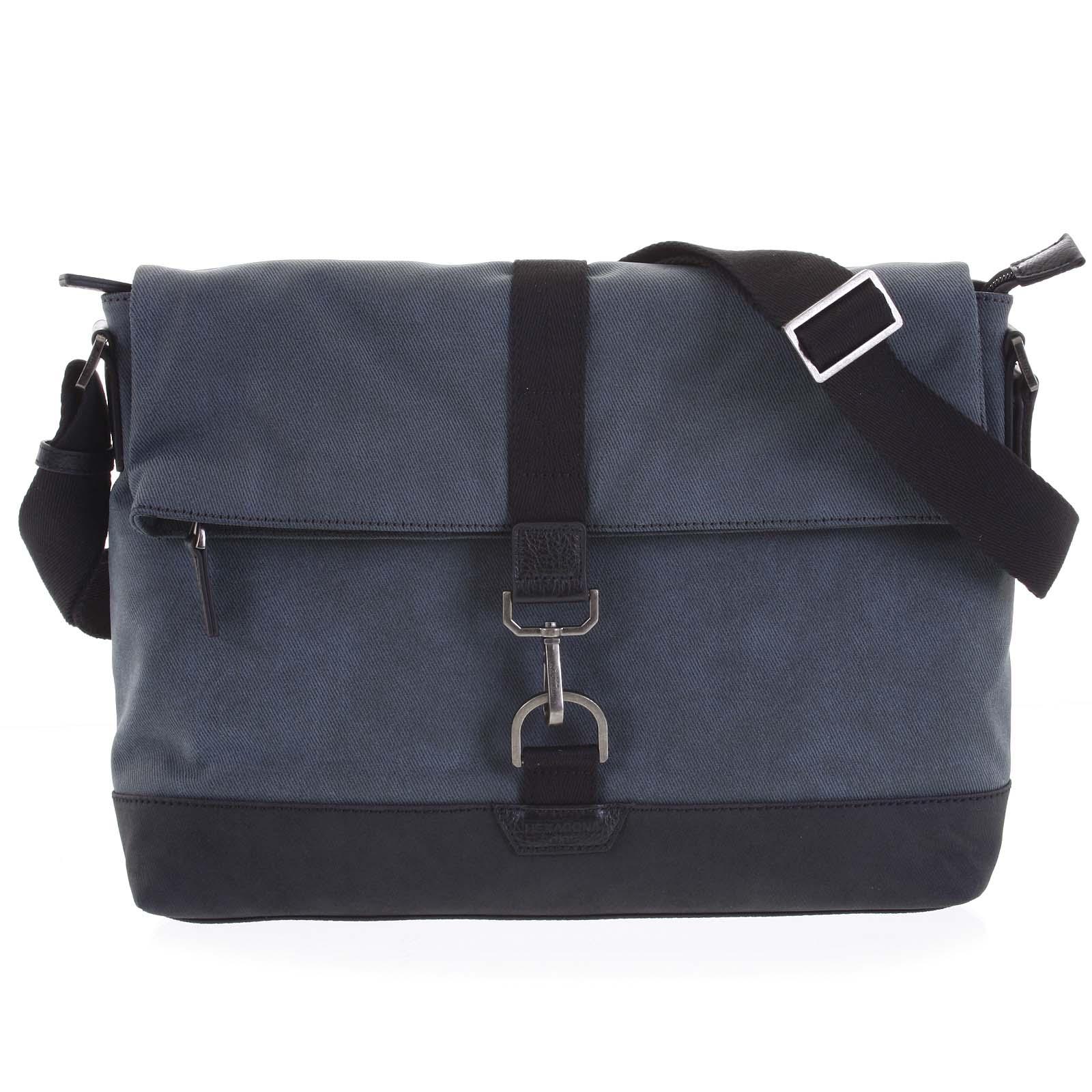 Pánska taška na notebook modrá - Hexagona Cladrien modrá