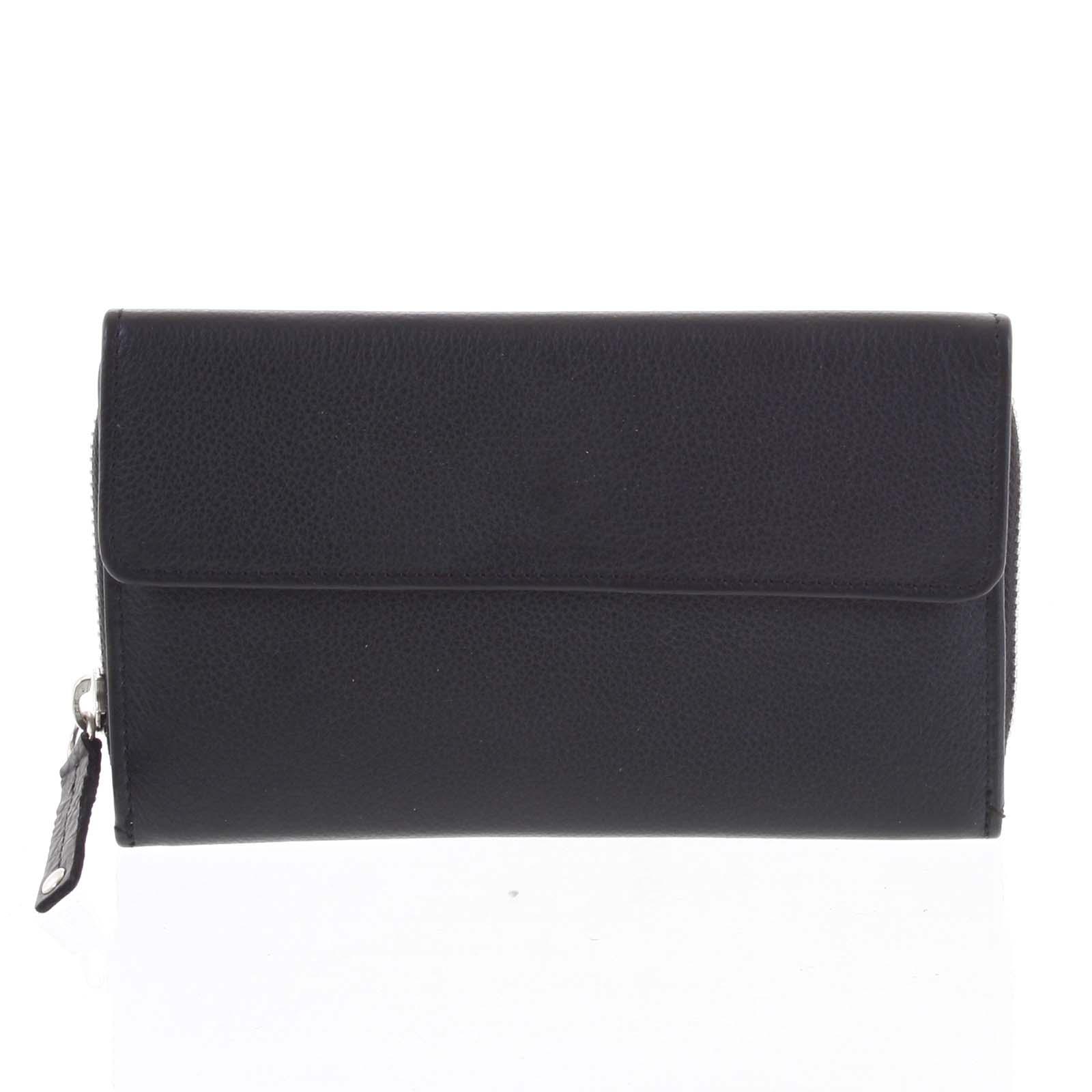 Dámska kožená peňaženka čierna - Tomas Menmaiya čierna