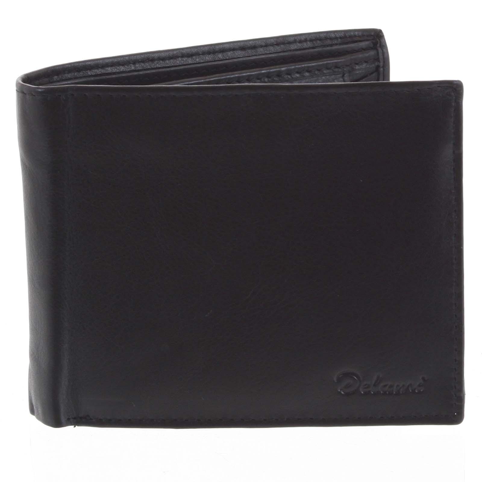 Pánska kožená peňaženka čierna - Delami Five čierna